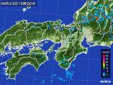 2015年06月23日の近畿地方の雨雲レーダー