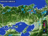 2015年06月23日の兵庫県の雨雲の動き