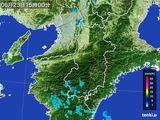 2015年06月23日の奈良県の雨雲レーダー