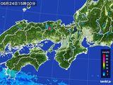 2015年06月24日の近畿地方の雨雲レーダー