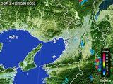 雨雲レーダー(2015年06月24日)
