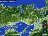 2015年06月24日の兵庫県の雨雲の動き