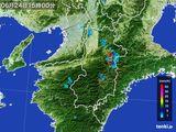 2015年06月24日の奈良県の雨雲レーダー