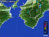 2015年06月24日の和歌山県の雨雲レーダー