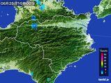 2015年06月25日の徳島県の雨雲の動き