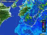 2015年06月26日の和歌山県の雨雲レーダー