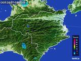 2015年06月26日の徳島県の雨雲の動き