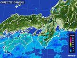 2015年06月27日の近畿地方の雨雲レーダー