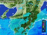 2015年06月27日の奈良県の雨雲レーダー