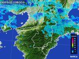 2015年06月30日の奈良県の雨雲レーダー