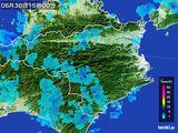 2015年06月30日の徳島県の雨雲の動き
