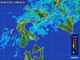 2015年06月30日の道南の雨雲の動き