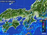 2015年07月01日の近畿地方の雨雲レーダー