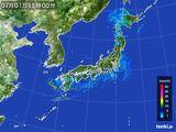 2015年07月01日の雨雲レーダー