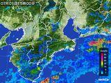 2015年07月01日の三重県の雨雲レーダー