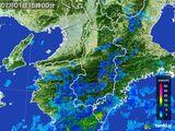 2015年07月01日の奈良県の雨雲レーダー