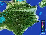 2015年07月01日の徳島県の雨雲の動き