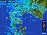 2015年07月01日の道南の雨雲の動き