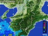 2015年07月02日の奈良県の雨雲レーダー