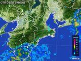 2015年07月03日の三重県の雨雲レーダー