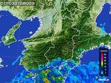2015年07月03日の奈良県の雨雲レーダー