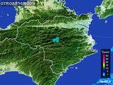 2015年07月03日の徳島県の雨雲の動き