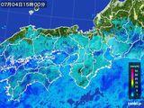 2015年07月04日の近畿地方の雨雲レーダー