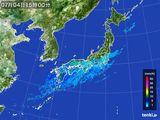 2015年07月04日の雨雲レーダー