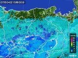 2015年07月04日の兵庫県の雨雲の動き
