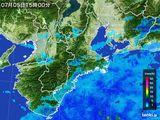 2015年07月05日の三重県の雨雲レーダー