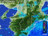 2015年07月05日の奈良県の雨雲レーダー