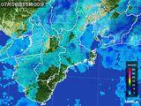 2015年07月06日の三重県の雨雲レーダー