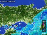 2015年07月06日の兵庫県の雨雲レーダー
