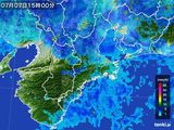 2015年07月07日の三重県の雨雲レーダー