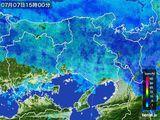 2015年07月07日の兵庫県の雨雲レーダー