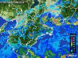 2015年07月08日の三重県の雨雲レーダー
