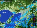 2015年07月08日の大阪府の雨雲レーダー