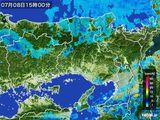 2015年07月08日の兵庫県の雨雲レーダー