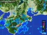 2015年07月09日の三重県の雨雲レーダー
