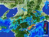 2015年07月09日の奈良県の雨雲レーダー