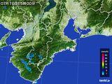 2015年07月10日の三重県の雨雲レーダー
