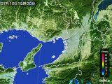 2015年07月10日の大阪府の雨雲レーダー