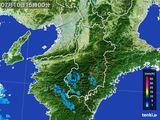 2015年07月10日の奈良県の雨雲レーダー