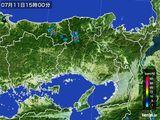 2015年07月11日の兵庫県の雨雲レーダー