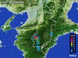 2015年07月11日の奈良県の雨雲レーダー