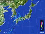 2015年07月12日の雨雲レーダー