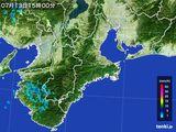 2015年07月13日の三重県の雨雲レーダー