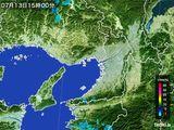 2015年07月13日の大阪府の雨雲レーダー