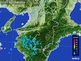 2015年07月13日の奈良県の雨雲レーダー
