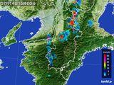 2015年07月14日の奈良県の雨雲レーダー